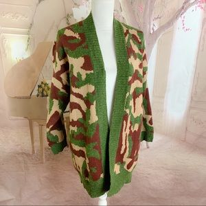 NEW Dreamers Camo Duster Cardigan